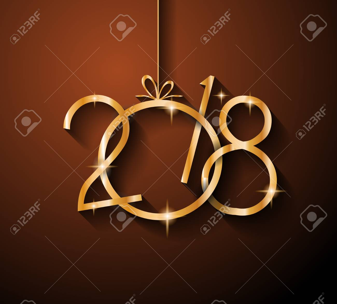 2018 Happy New Year Background For Your Seasonal Flyers And