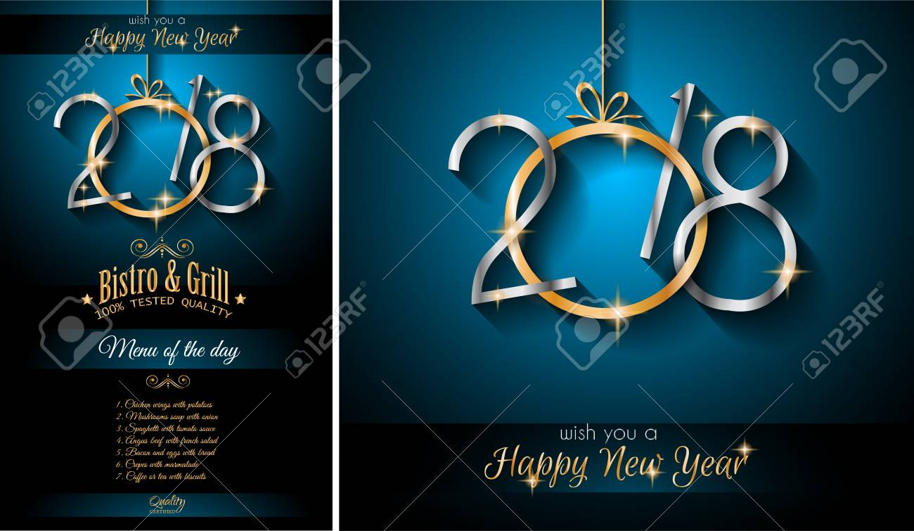 2018 happy new year background for your seasonal flyers and greetings cards or christmas themed invitations