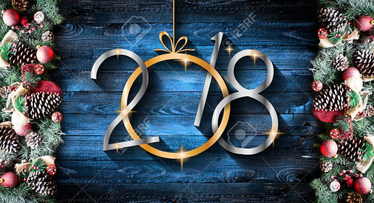 noel 2018 neige 2018 Joyeux Nouvel An Et Joyeux Noël Cadre Avec De La Neige Et Du  noel 2018 neige