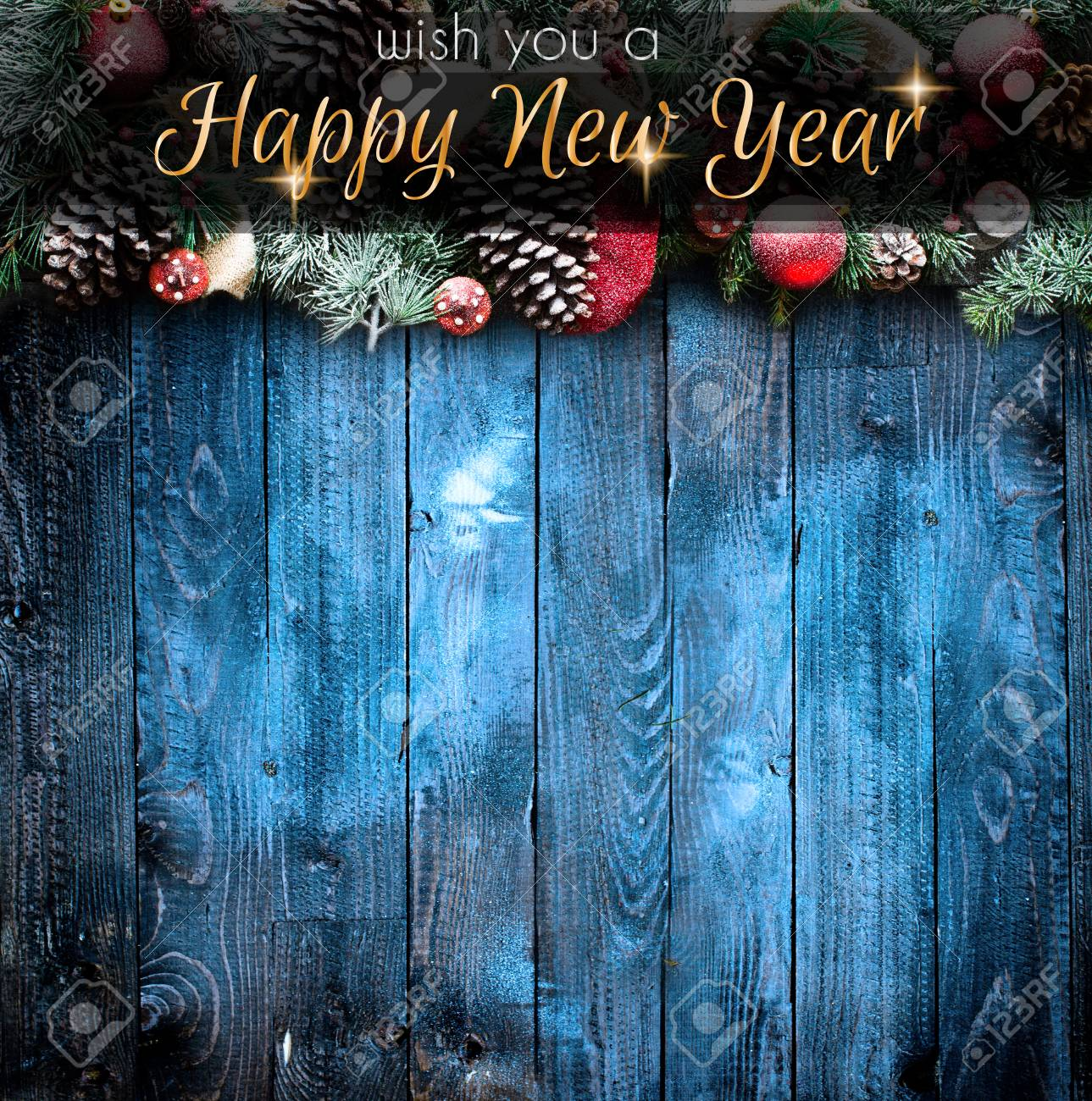 2018 Happy New Year And Merry Christmas Frame With Snow And Stock