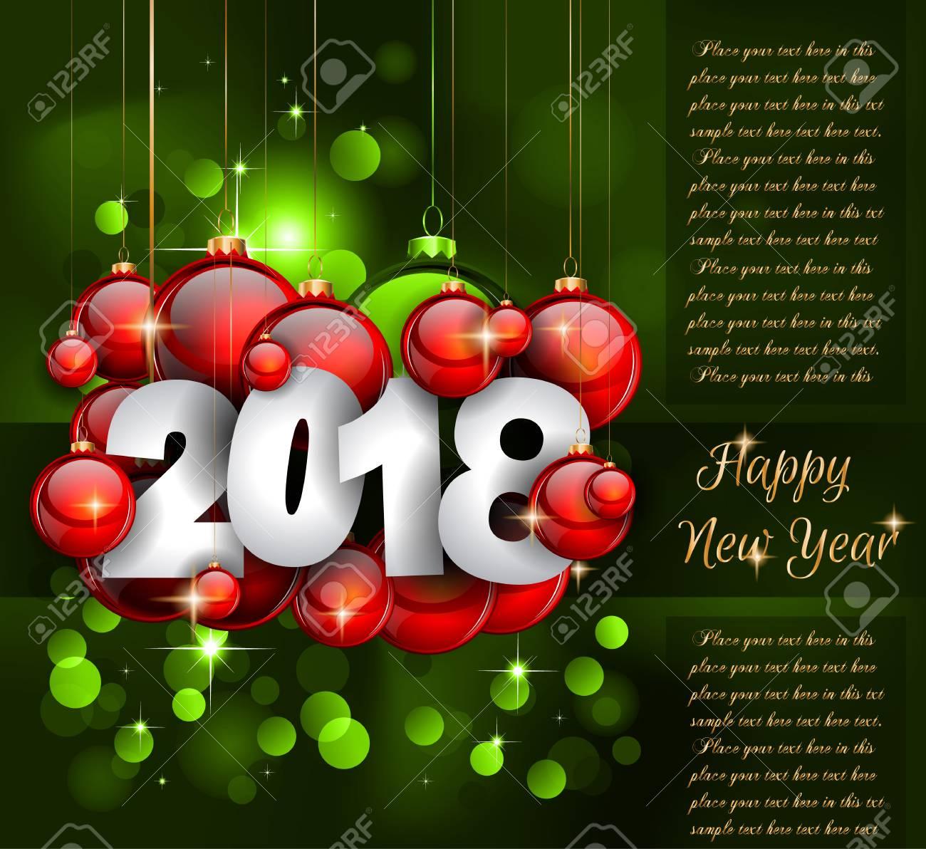 2018 Frohes Neues Jahr Grußkarte Oder Weihnachten Themen-Einladungen ...