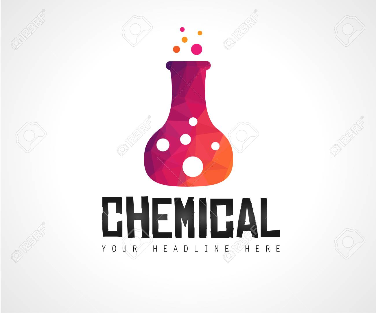 Creative Chemical Colorful Logo Design For Brand Identity Company Profile Or Corporate Logos With Clean