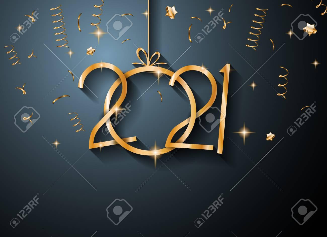 2021 Fond De Bonne Année Pour Vos Cartes De Voeux Saisonniers Et Cartes De  Voeux Ou Invitations Sur Le Thème De Noël Clip Art Libres De Droits ,  Vecteurs Et Illustration. Image 91477370.