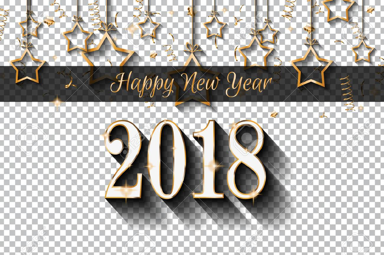 2018 Happy New Year Design For Your Seasonal Flyers And Greetings ...