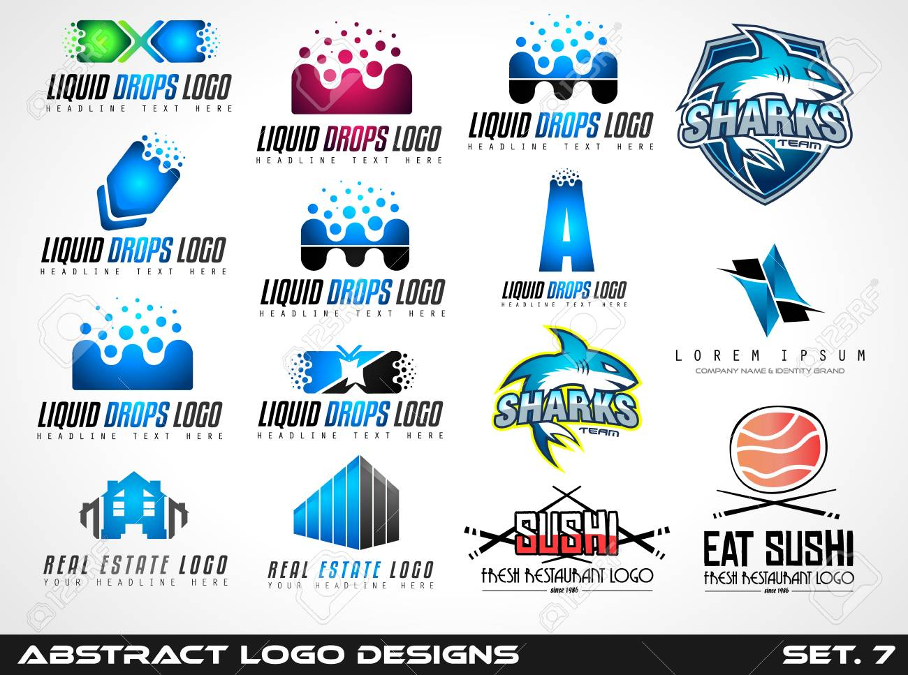 collection of creative logos design for brand identity company