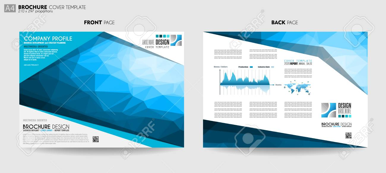 Brochure Template Design Or Cover For Business Purposes Elegant