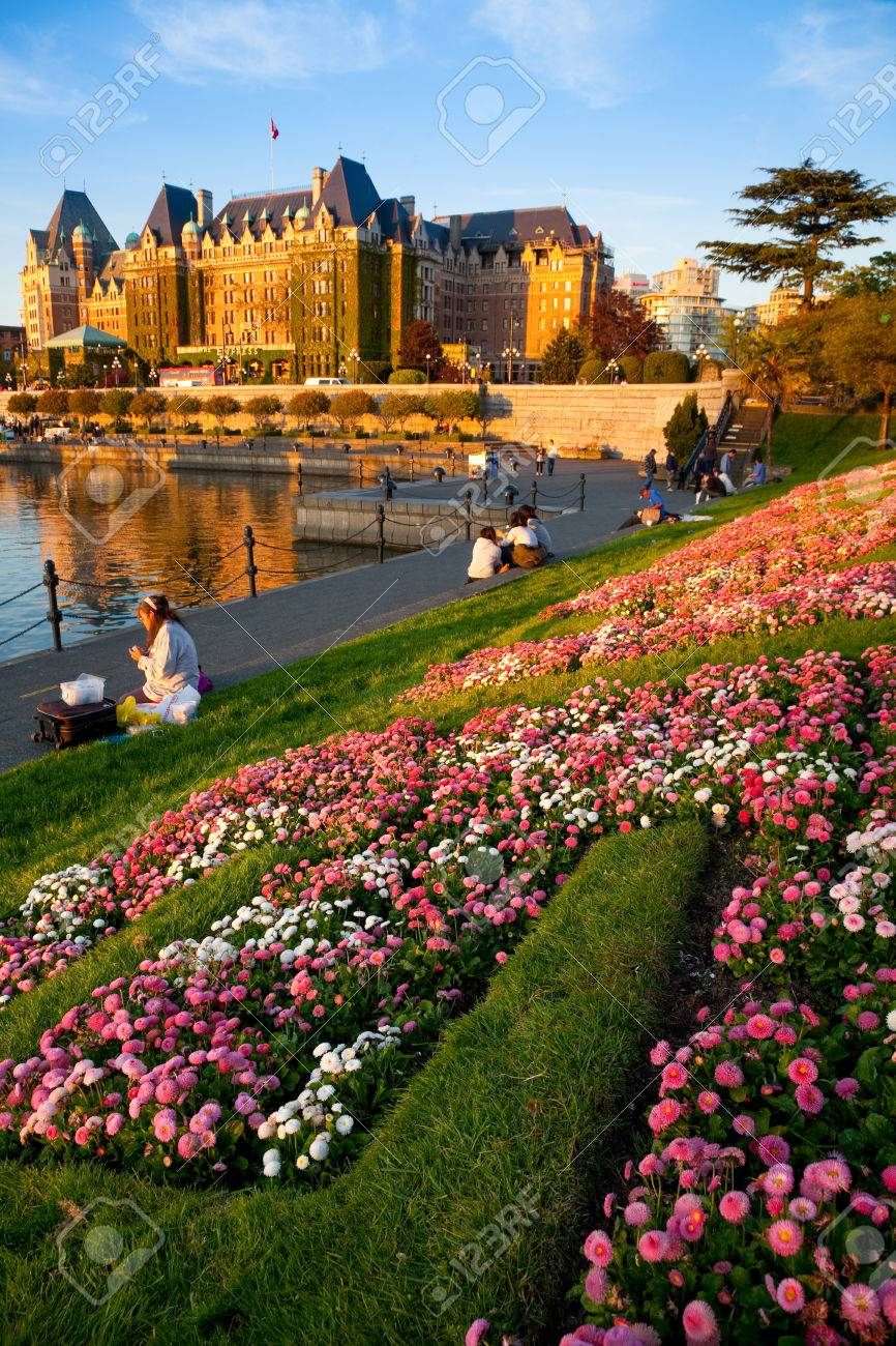 Empress Hotel And Inner Harbour, Victoria At Sunset, Vancouver ...