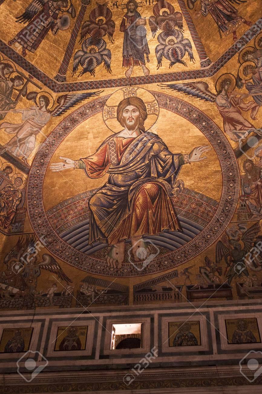 Tag Des Jüngsten Gerichts Byzantinischen Mosaic Florence