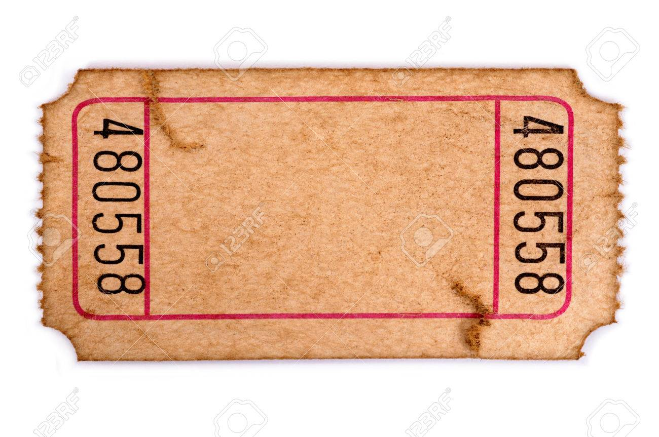 Raffle Ticket Stock Photos Images, Royalty Free Raffle Ticket ... raffle ticket: Old torn blank movie or raffle ticket isolated on a white background.