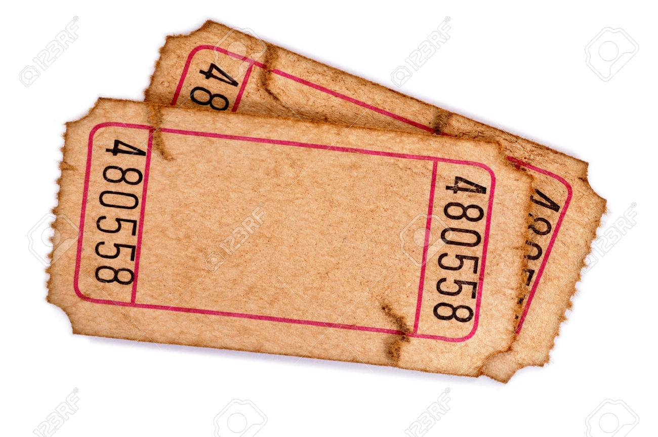 pair of old torn blank raffle tickets on a white background stock pair of old torn blank raffle tickets on a white background stock photo 36440753