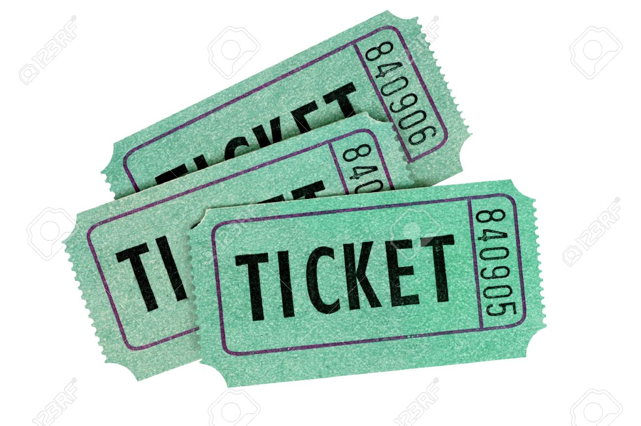 three green raffle tickets isolated on a white background stock stock photo three green raffle tickets isolated on a white background