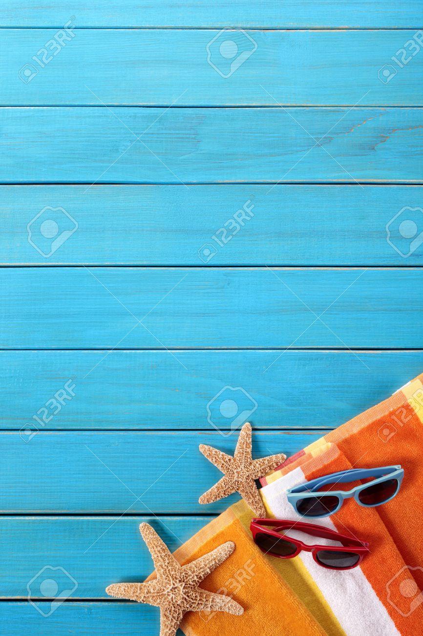 Summer beach background vertical, copy space - 40926827