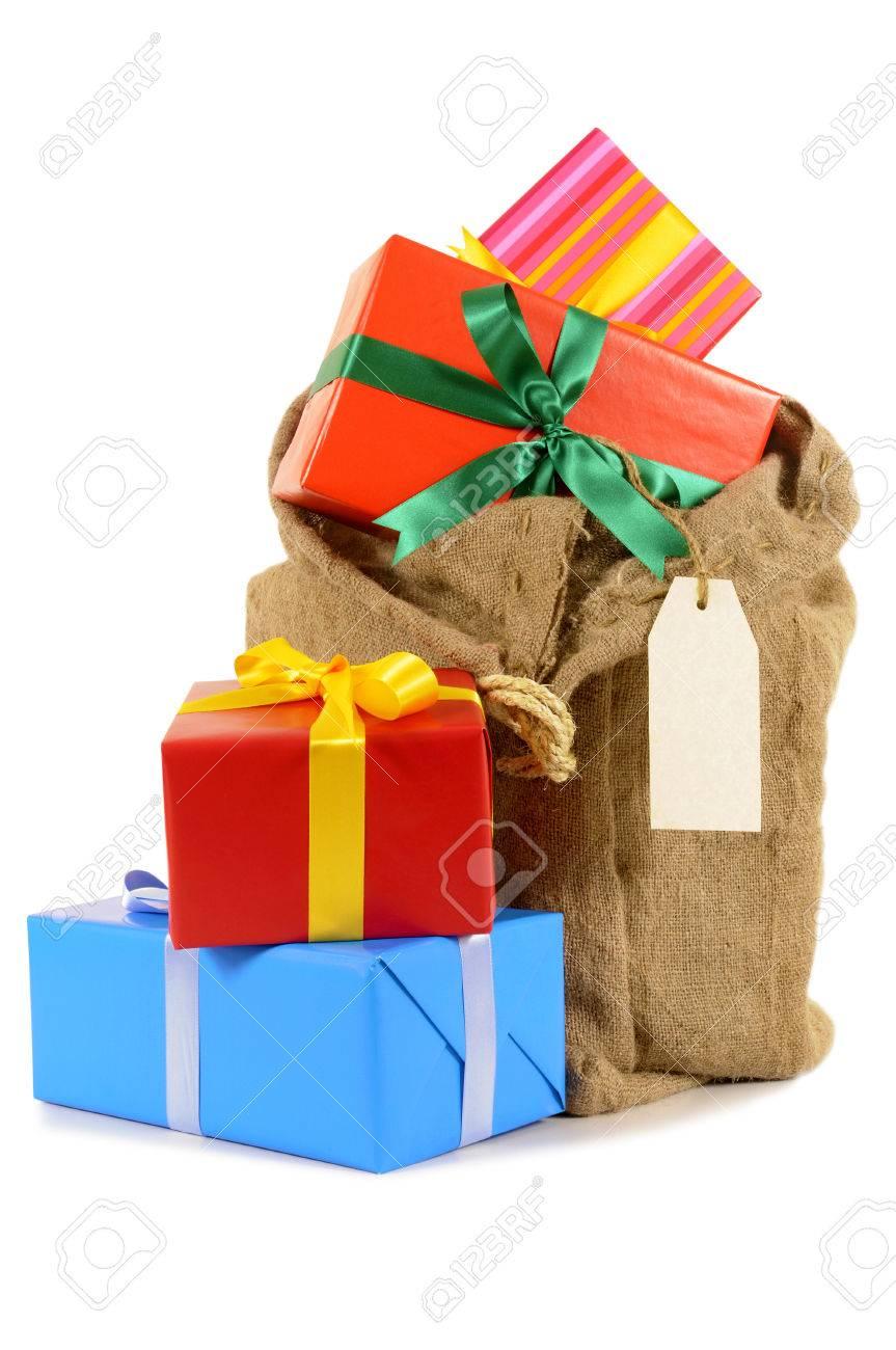 Weihnachtsgeschenke Sack.Stock Photo
