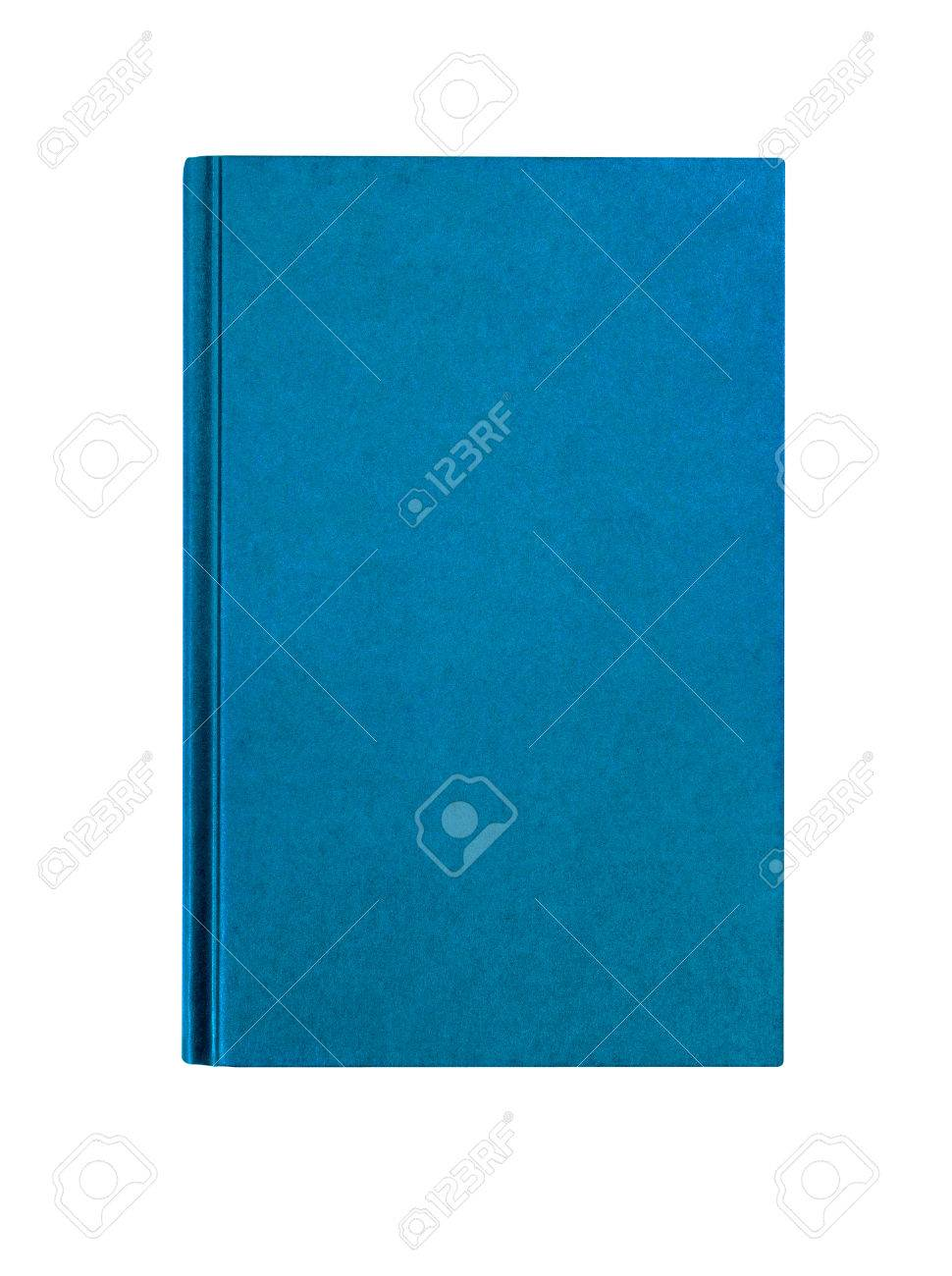 Light blue plain hardcover book front cover upright vertical isolated on white - 52422930