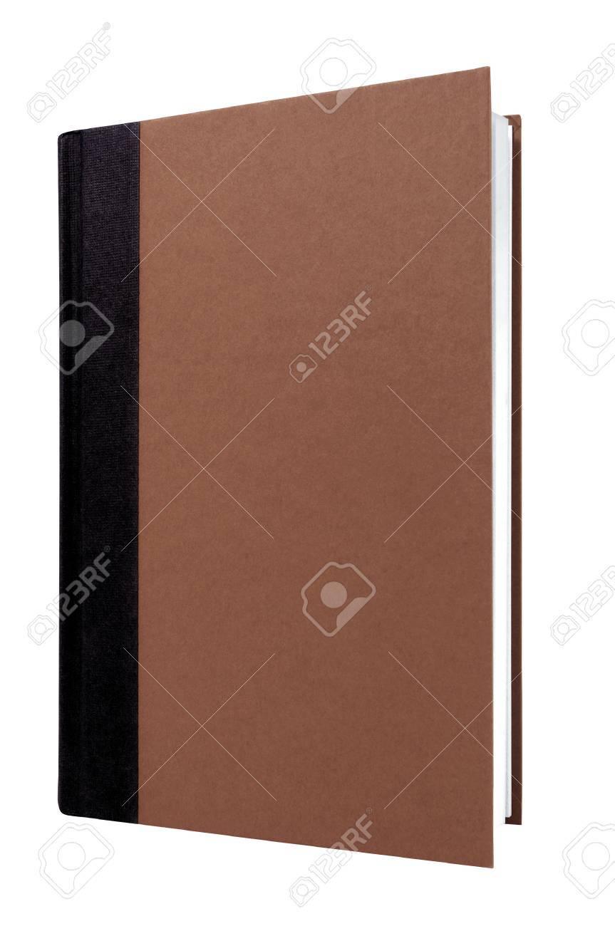 Brown Livre Relie Epine Noire Avant Couverture Verticale Isole Sur Blanc Vertical