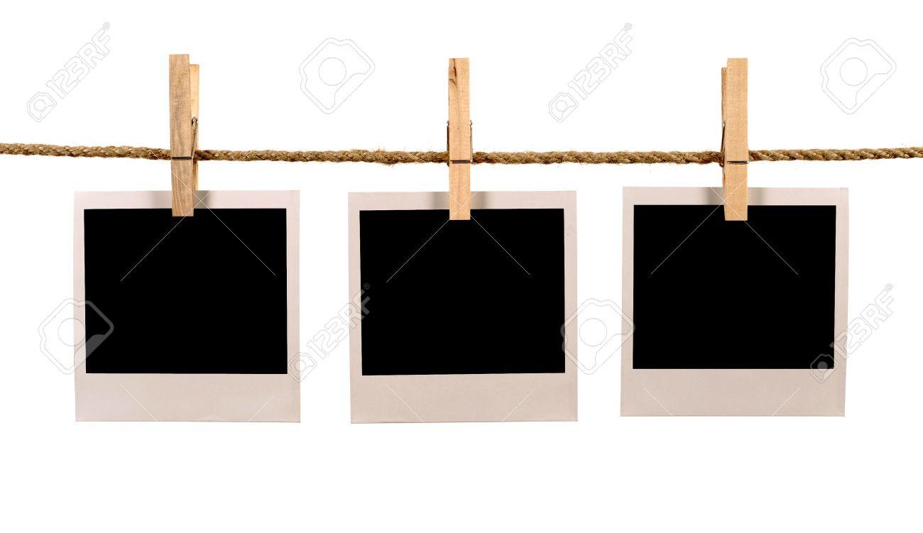 Varios Estilo Polaroid En Blanco De Foto Instantánea De Imprimir ...