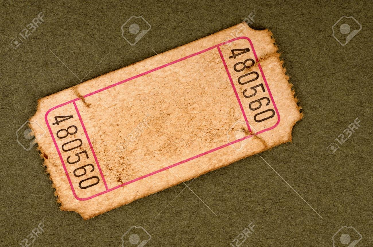 Old Blank Ticket Stub Stock Photo Picture And Royalty Free Image