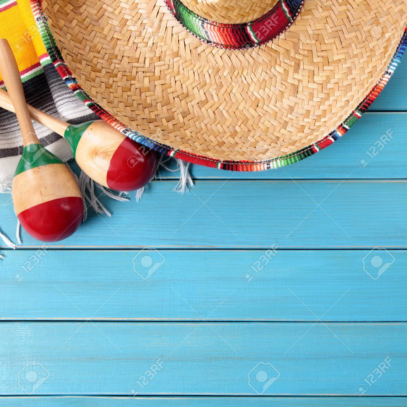 Mexico Cinco De Mayo Background Border Square Format Stock Photo
