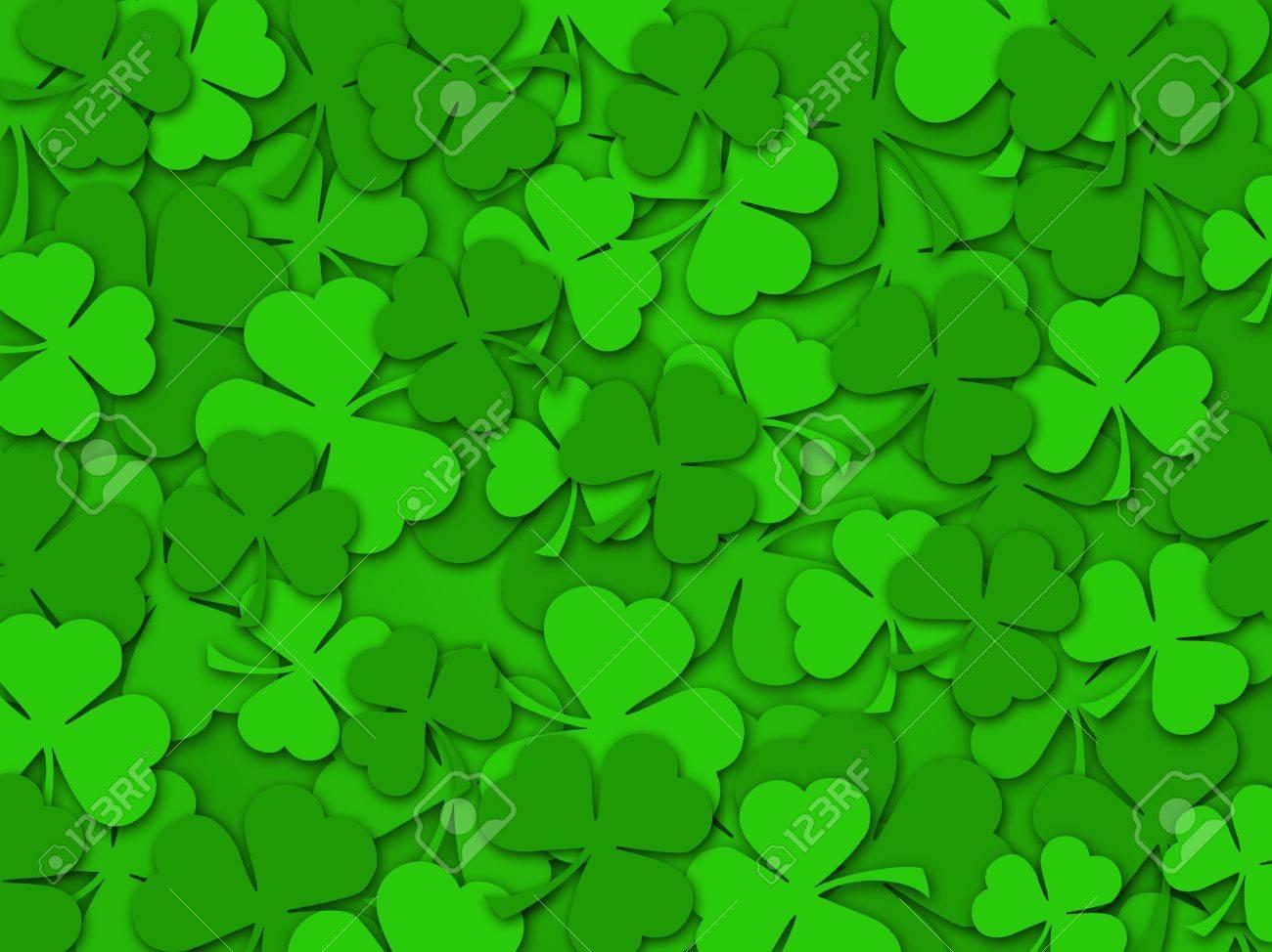 happy st patrick u0027s day green shamrock leaves background color
