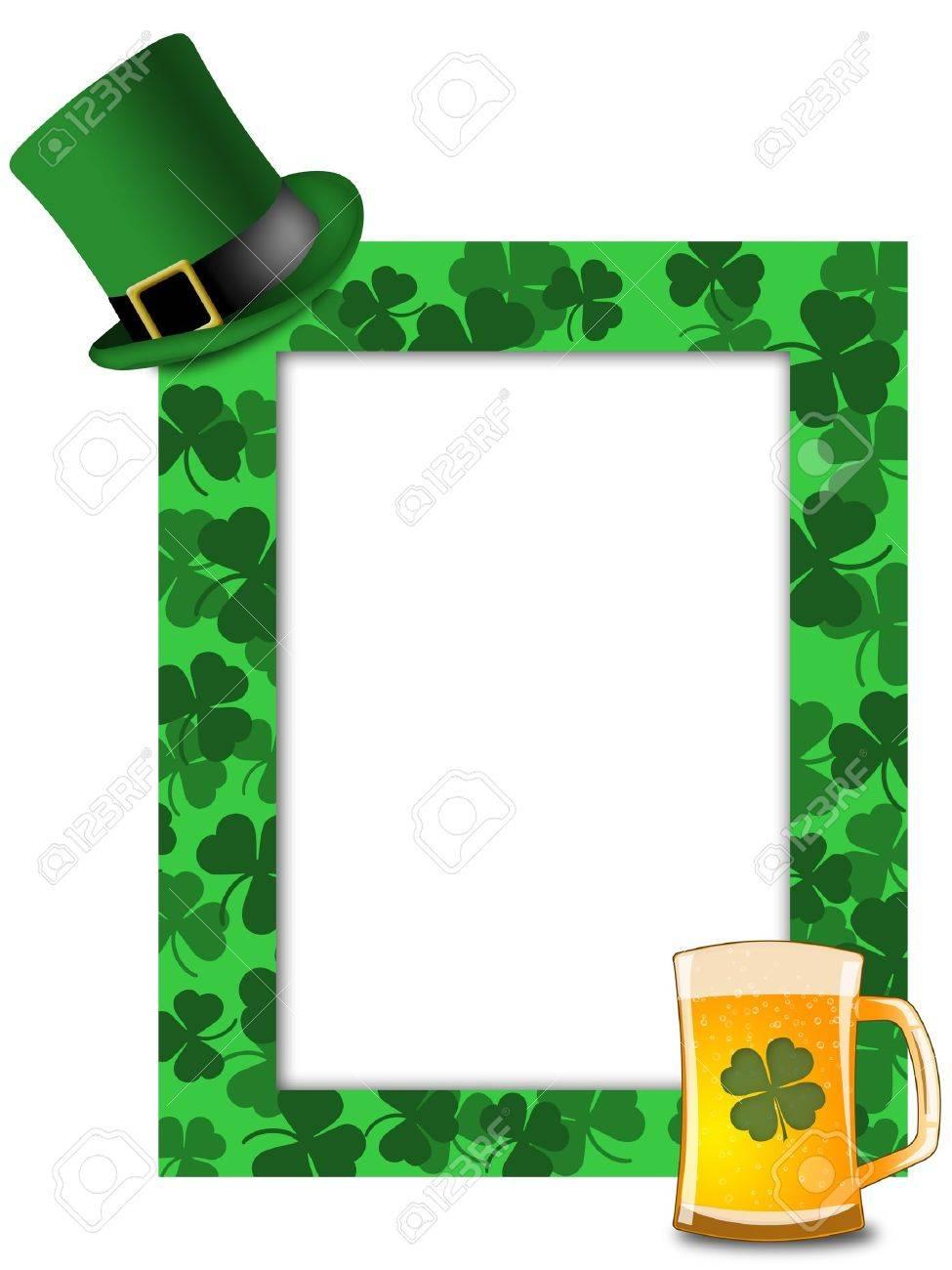 Día De San Patricio Duende Verde Hat Shamrock Cerveza Marco ...