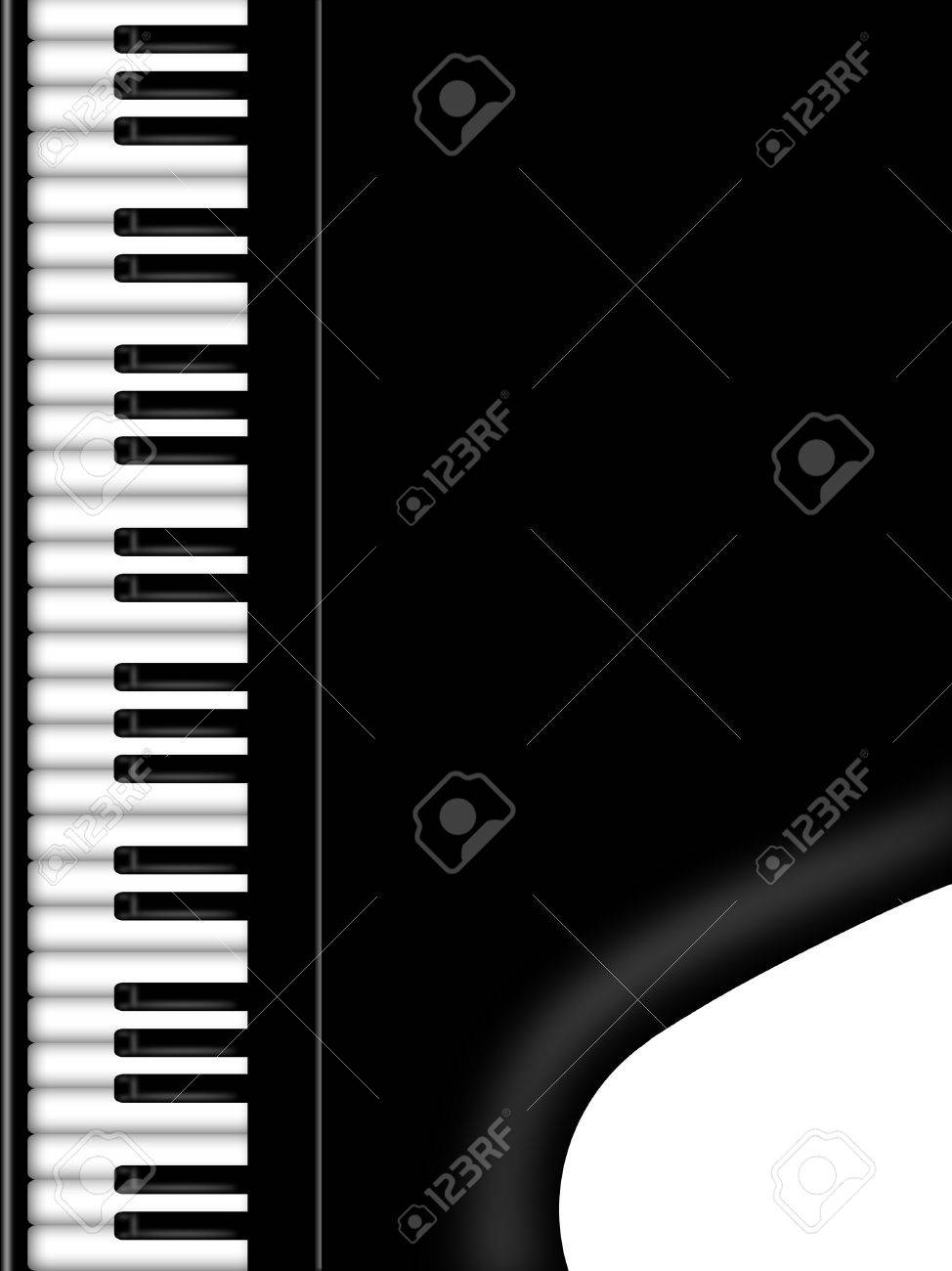 Organ Piano Drawing Grand Piano Keyboard Black And