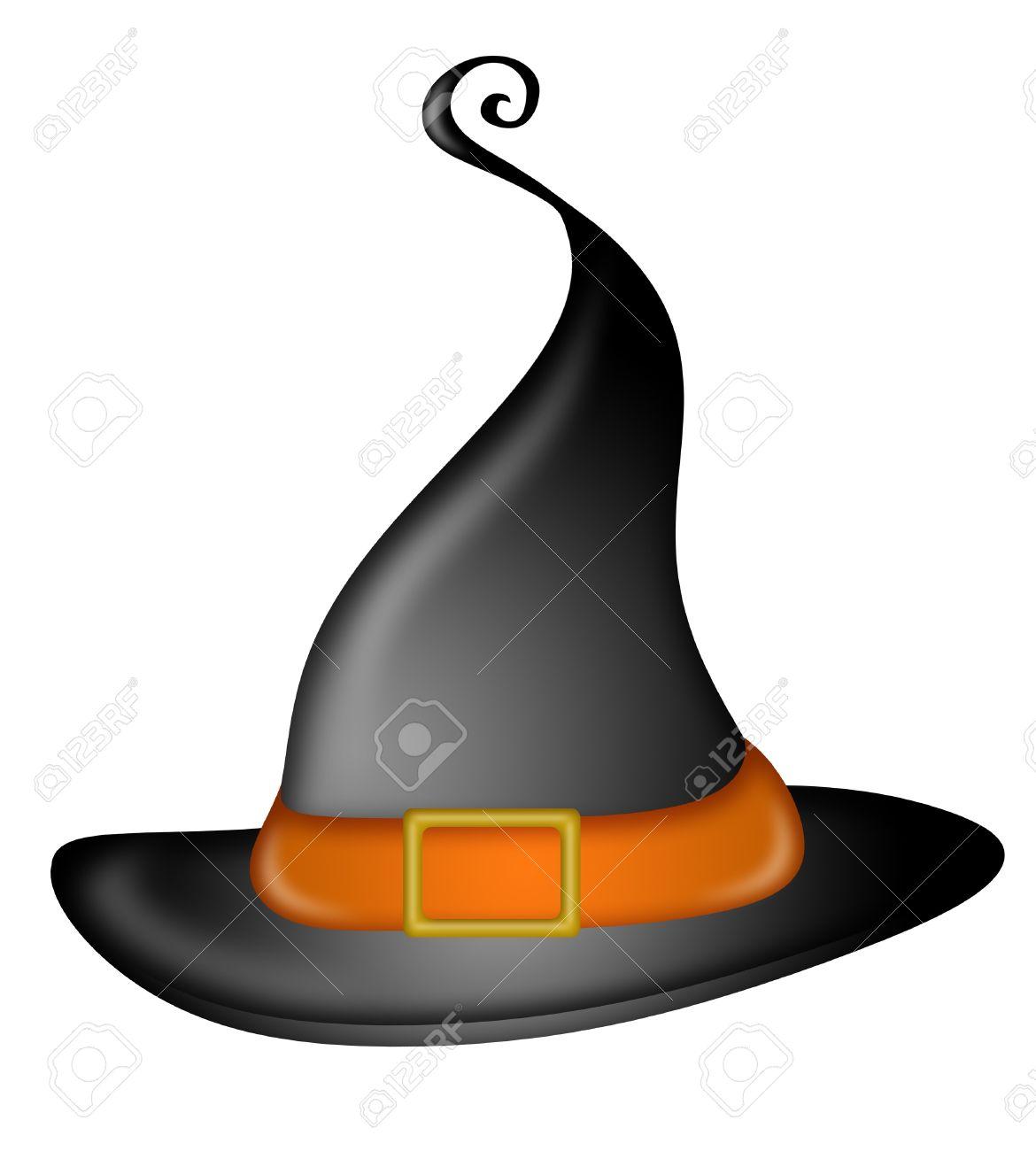 Foto de archivo - Ilustración de sombrero de brujas de Halloween 3452500cf2d