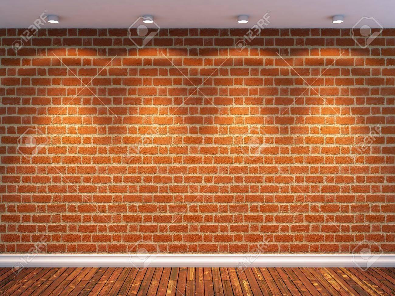 empty room with brick wall Empty Brick Wall