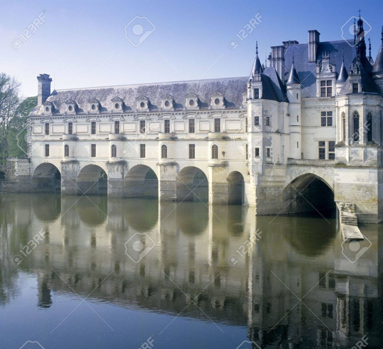chateau chenonceau loire valley france Stock Photo - 665678