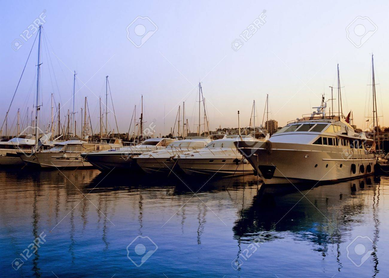 harbour antibes alpes maritime cote d'azur french riviera provence south of france europe Stock Photo - 1357073