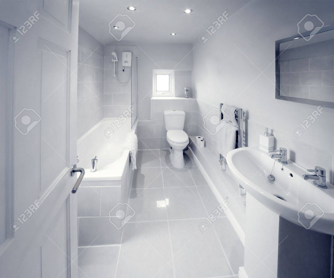 Bathroom Sink Shower Loo Toilet Bath Sink Stock Photo, Picture And ...