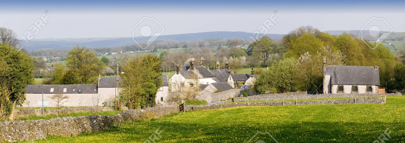 village with houses in countryside Stock Photo - 3109082