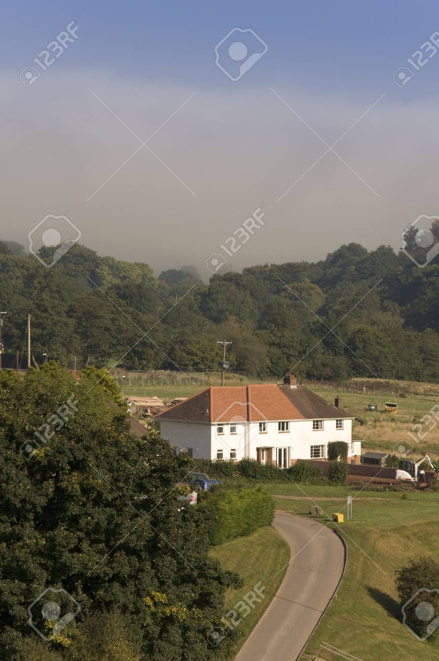 semi detached houses exterior view Stock Photo - 4100252