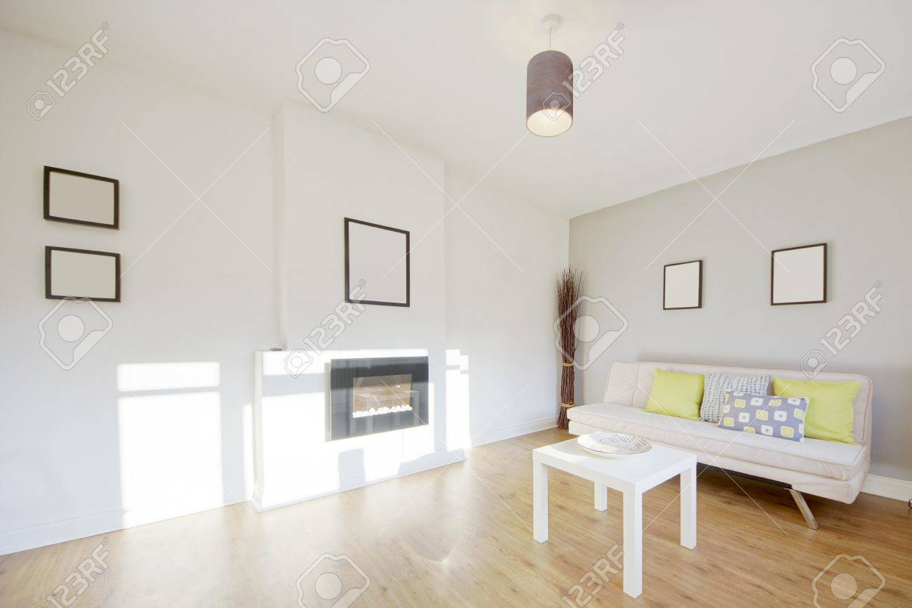 lounge area in newly restored rebuilt house Stock Photo - 12730586