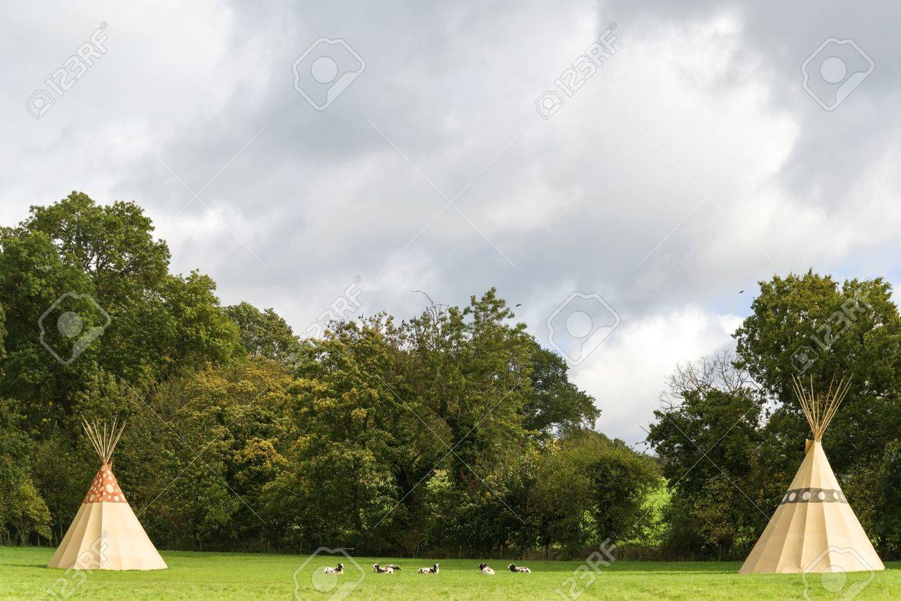 a tent - native american wigwam at a summer camp Stock Photo - 15906345