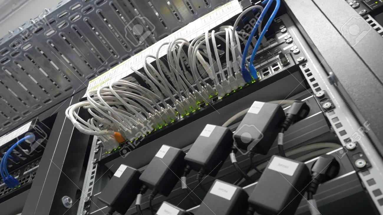 storage servers are located in the server room of the data center
