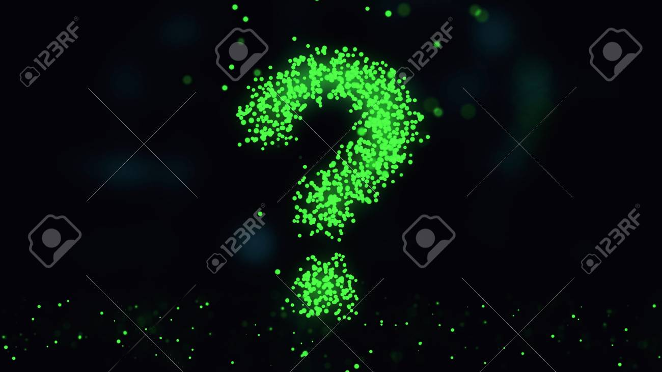 Question mark  Animation of plexus network from question symbol