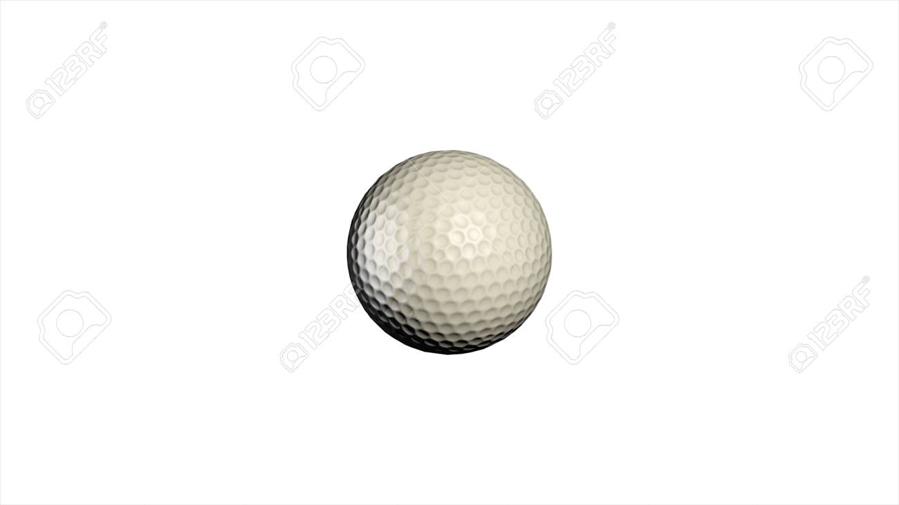 Golf Ball Rotating On White Background Golf Ball Animation Stock Photo Picture And Royalty Free Image Image 105381679