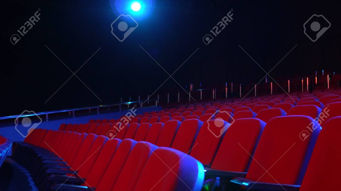 Empty Rows Of Seats In Cinema Hall Empty Movie Theater With Stock Photo Picture And Royalty Free Image Image 118051872