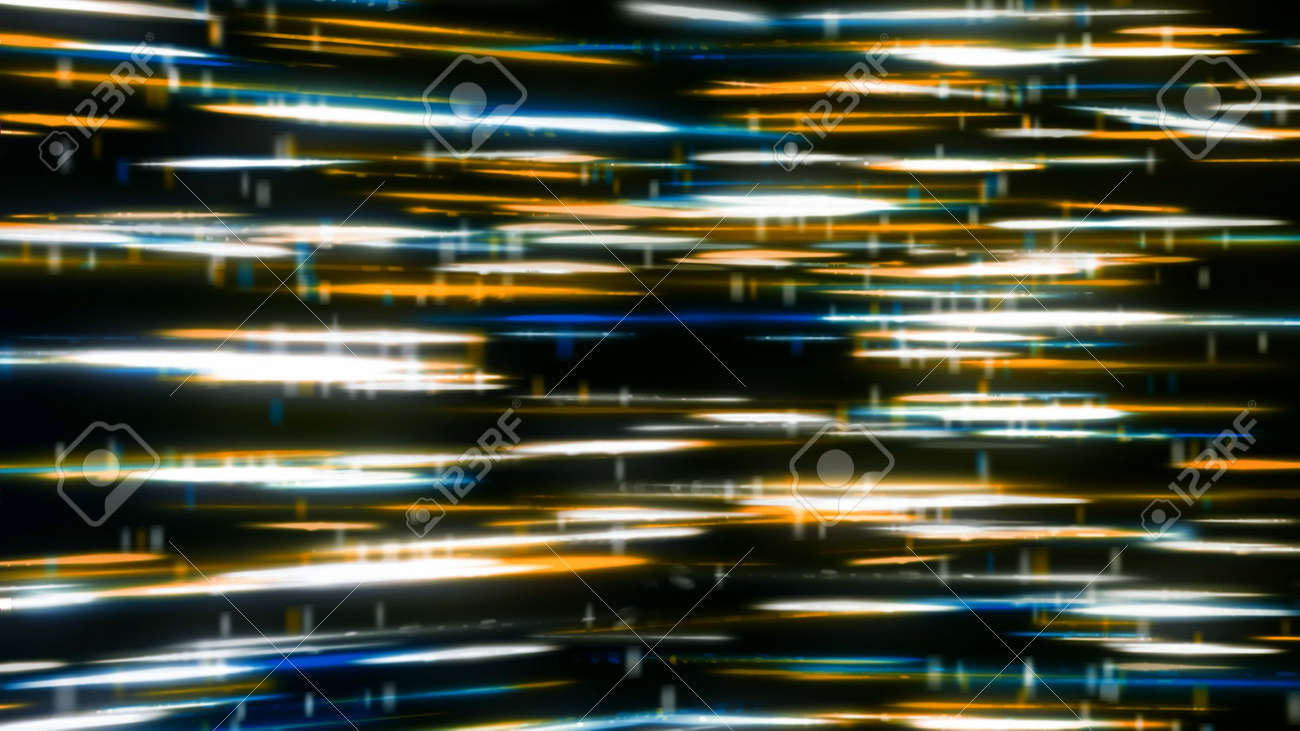 Background with colorful and shiny lines on black background. Animation. Space revolves around a mass of brilliant reflections frozen in air. Colorful and shiny lines on black background - 170191594