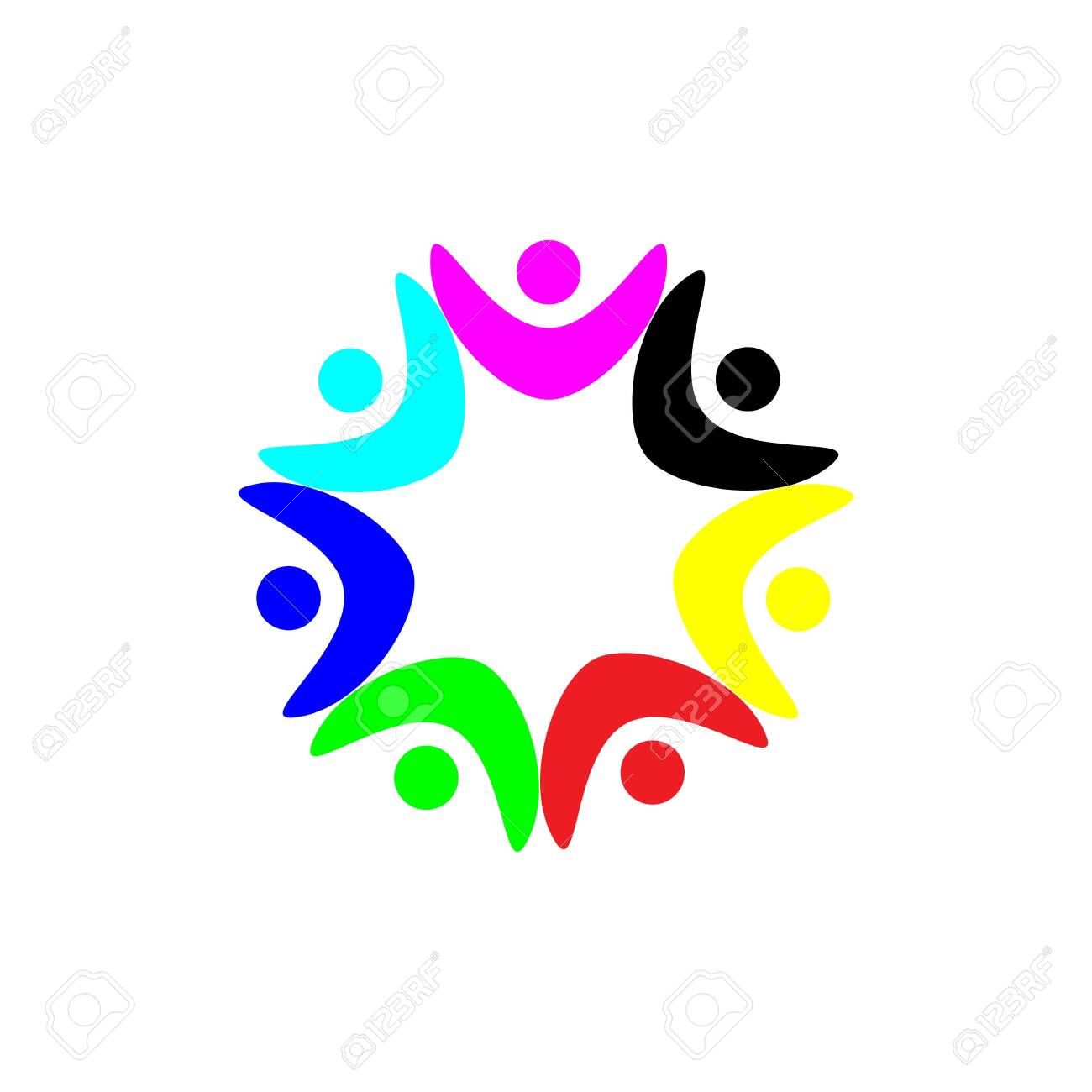 Community Logo puzzle template vector - 154083842