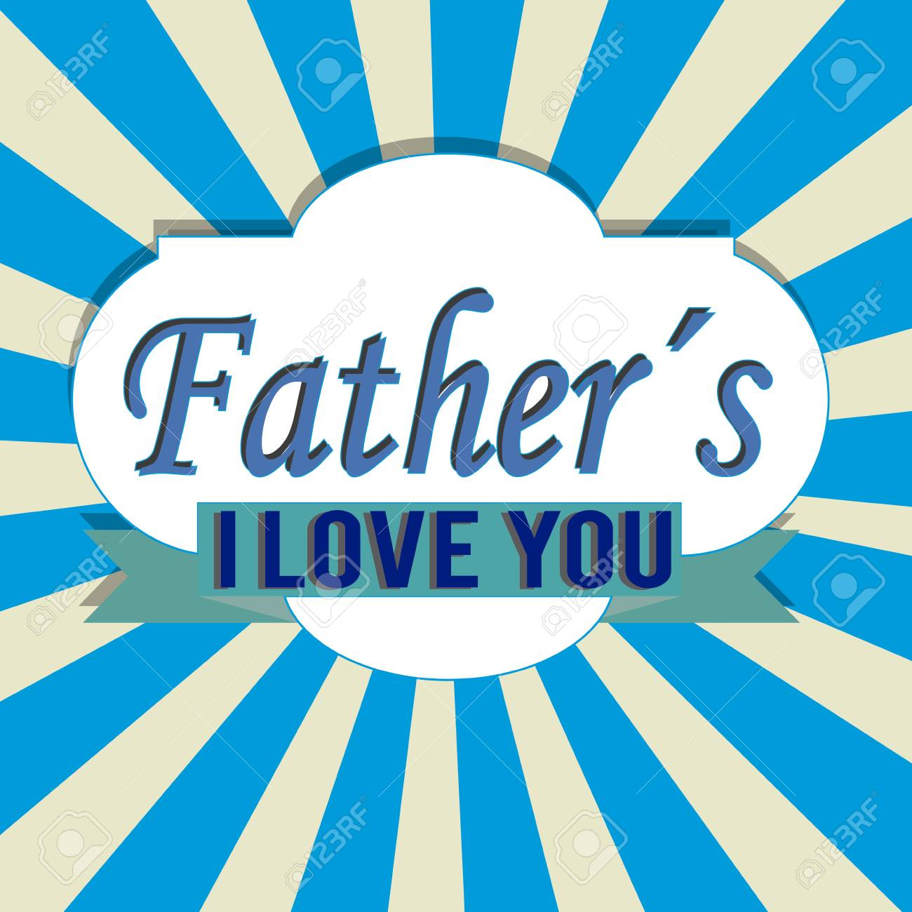 abstract father's day label on special background Stock Vector - 21802615