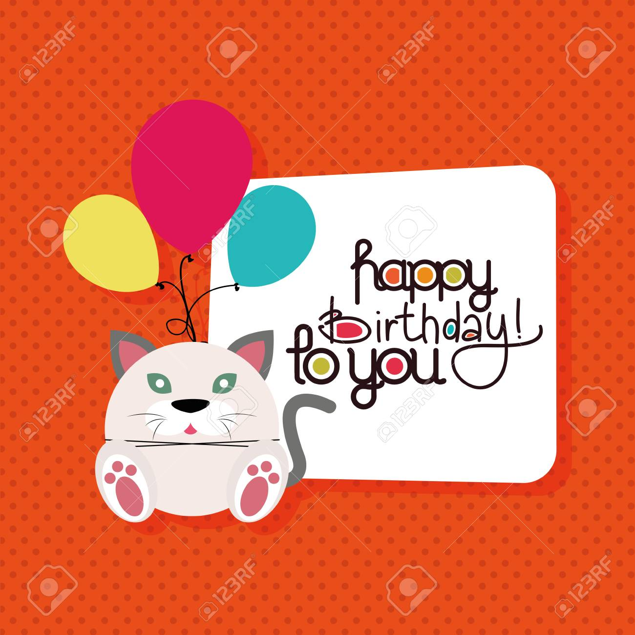 Textured Background With Text And An Animal For Birthdays Stock Vector
