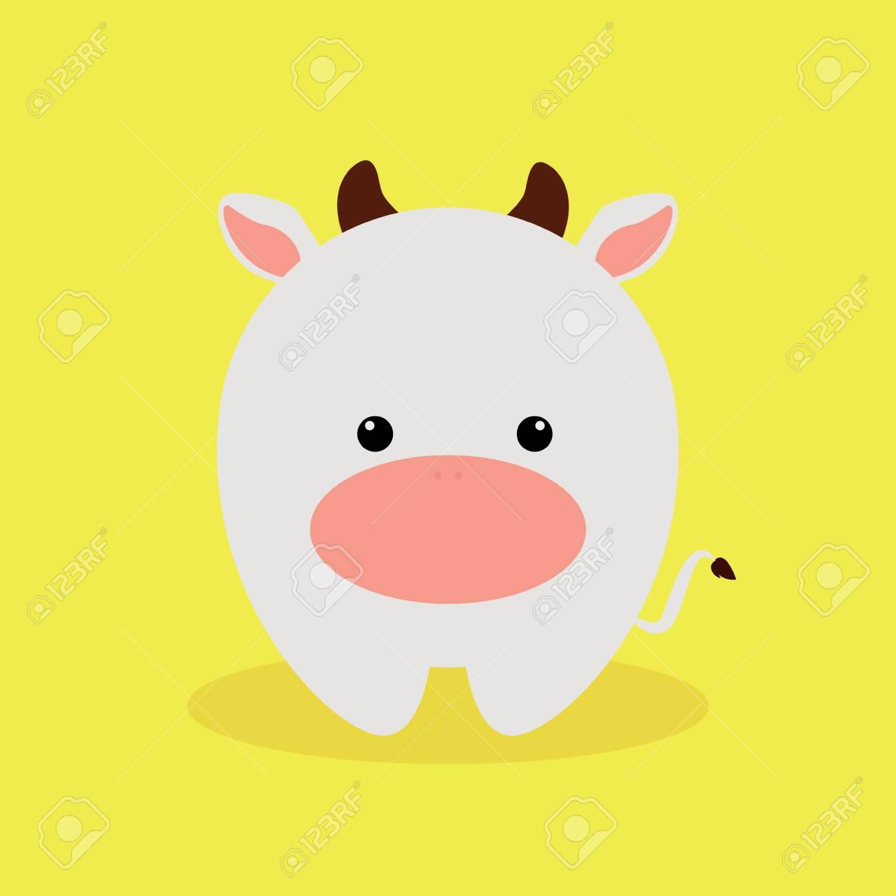 Cute Cartoon Animals On A Yellow Background