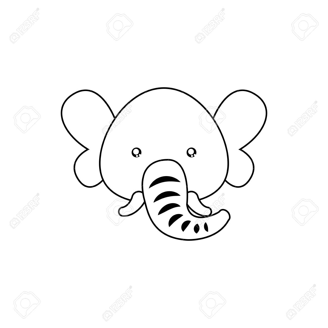 Elephant Drawing Face