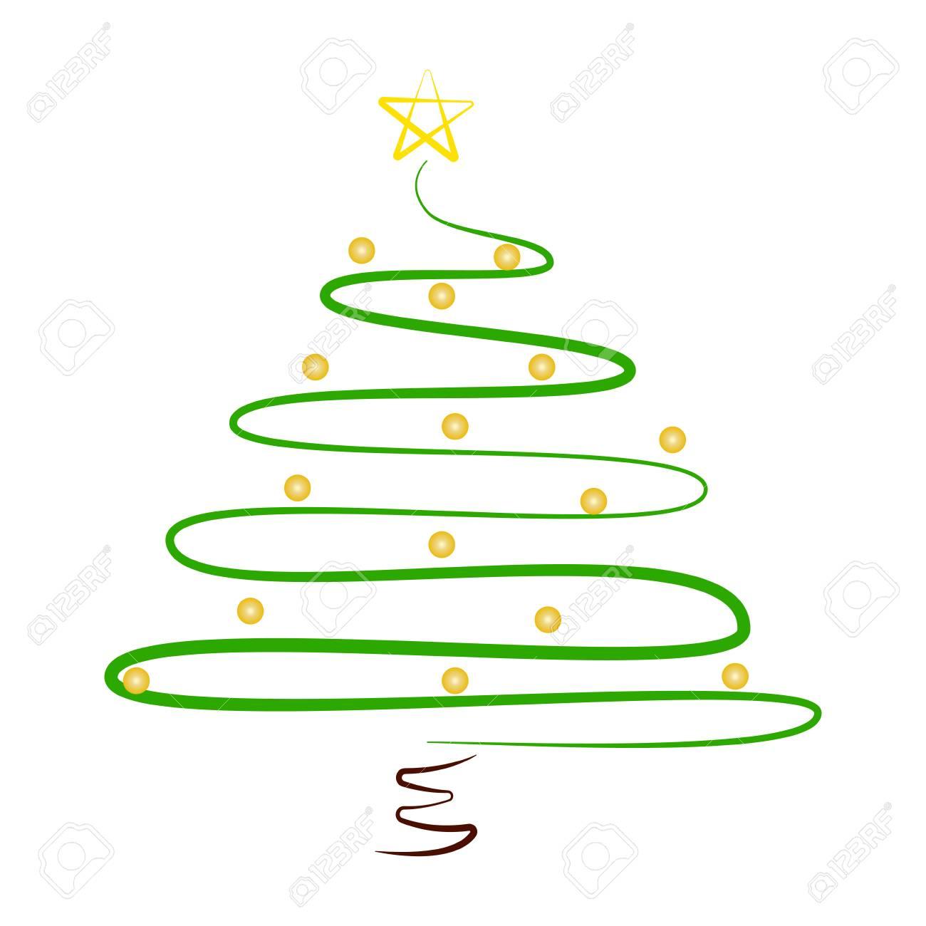 Christmas Tree Clip Art Abstract