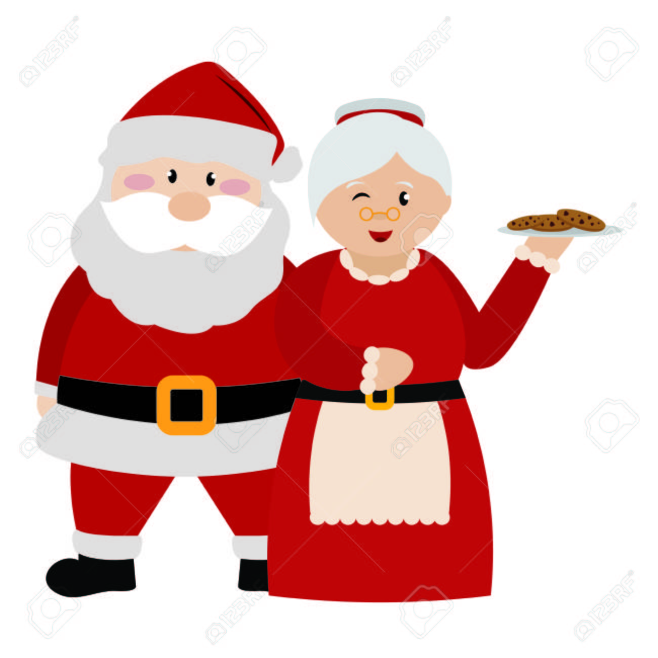Cute Christmas Cartoon Characters Vector Illustration Design Royalty Free Cliparts Vectors And Stock Illustration Image 110059282