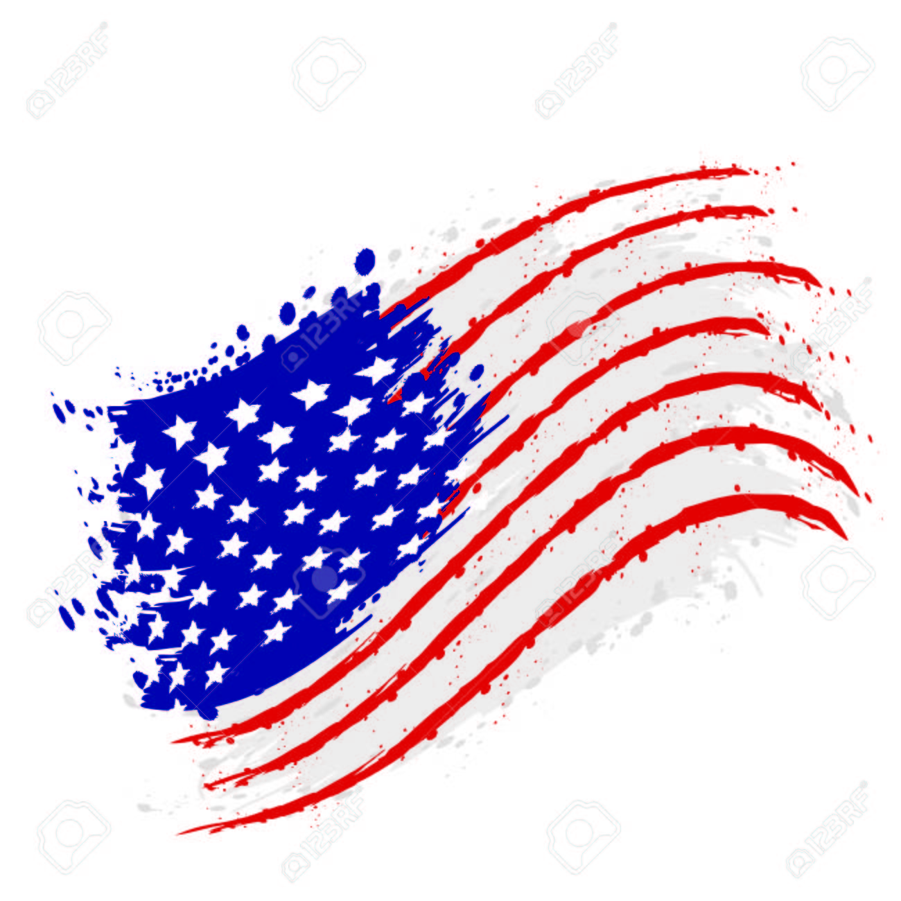watercolor flag of United States, vector illustration design - 125330286