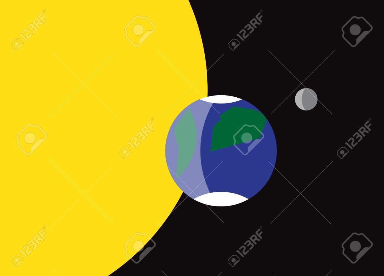 A planet Earth flag design - 37152557