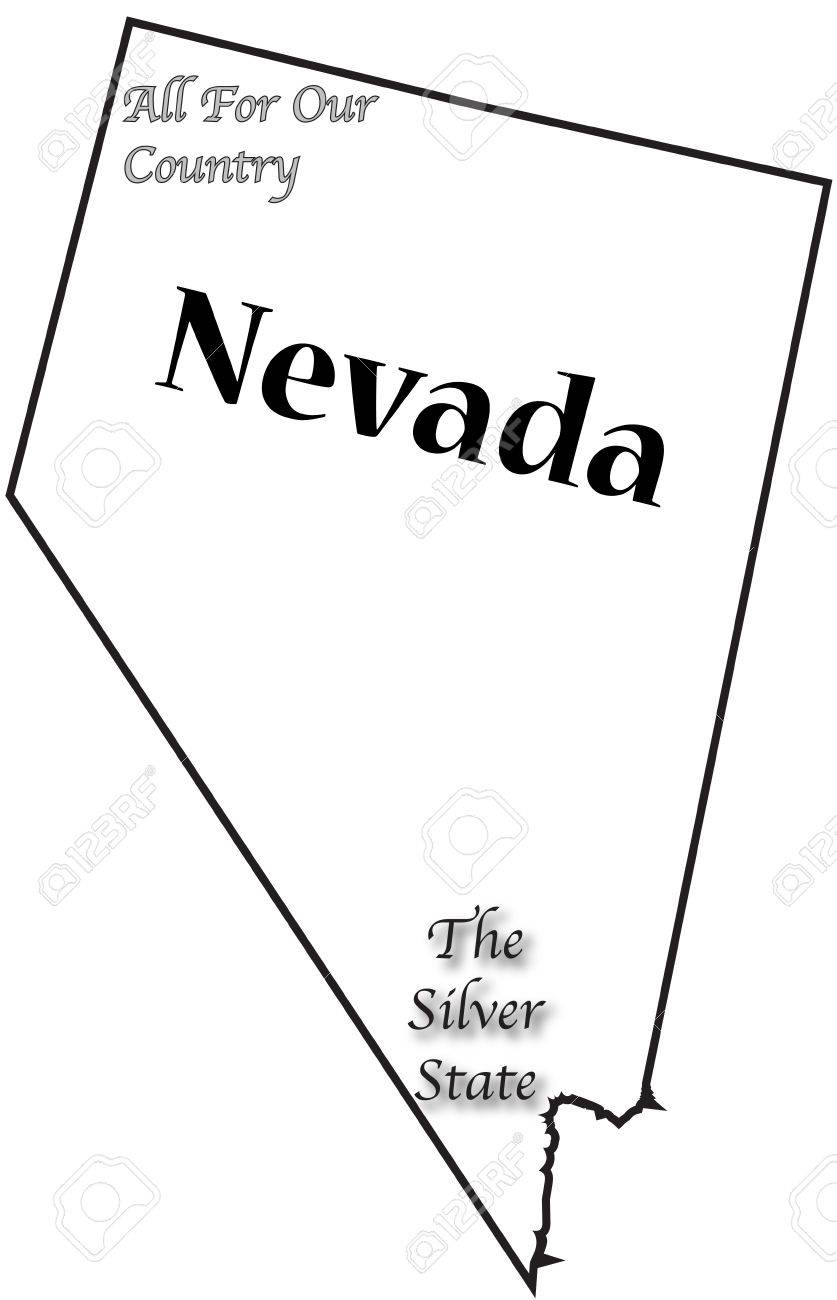 A Nevada State Outline With The Motto And Slogan And Isolated Royalty Free Cliparts Vectors And Stock Illustration Image 46231231