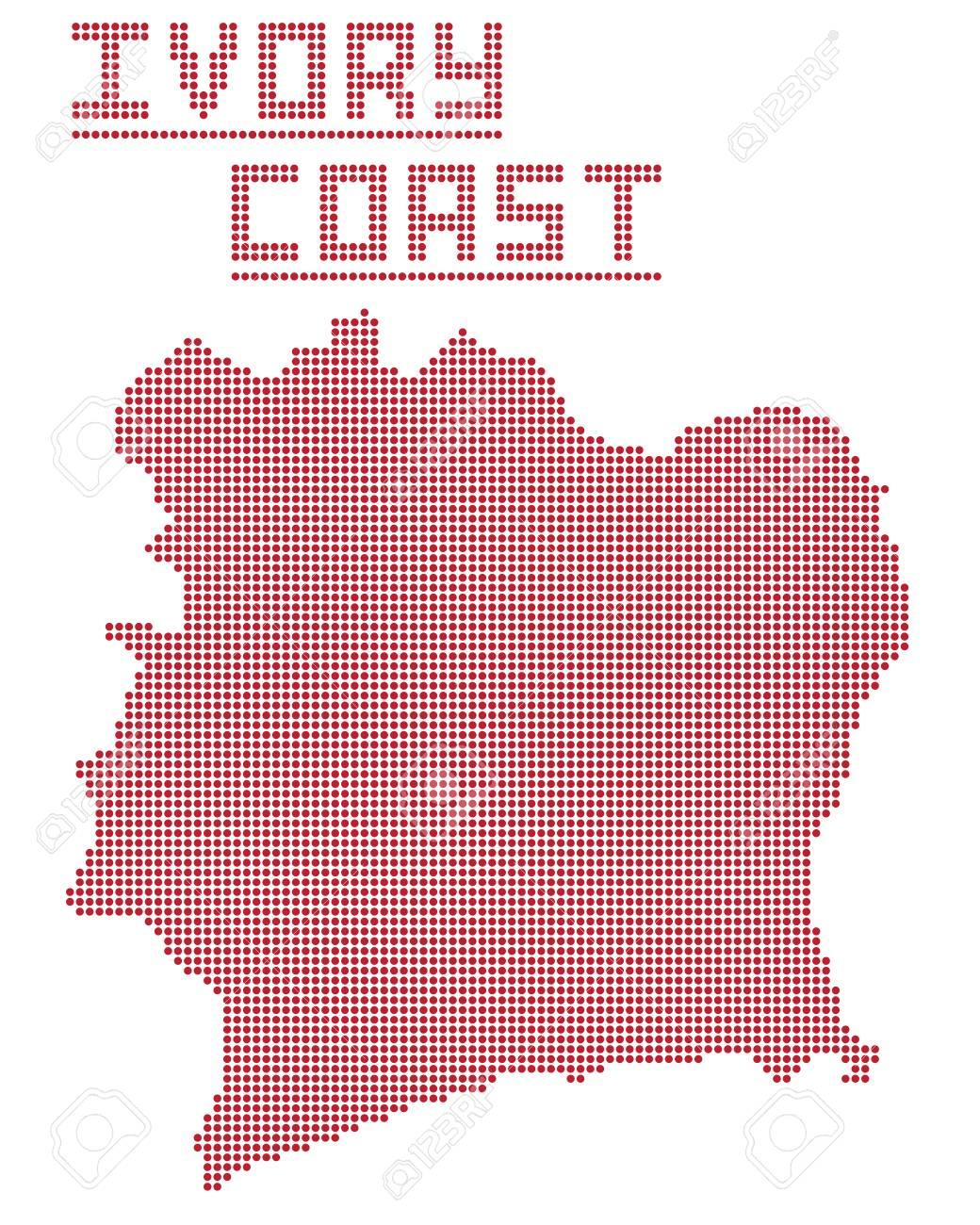 Vettoriale Una Mappa Del Puntello Della Costa Davorio Isolato Su